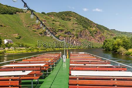 passenger ship on river moselle rhineland