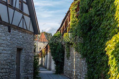 small road along the city wall