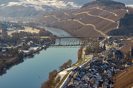 view on the valley of the