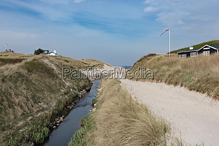 danish riverside in jutland denmark