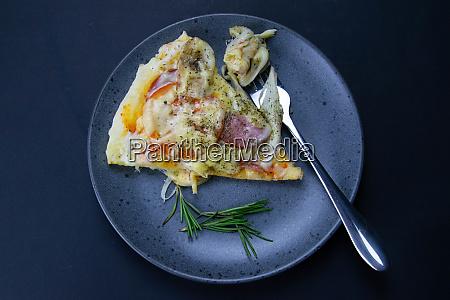 pizza with mozzarella salami tomatoes bananas