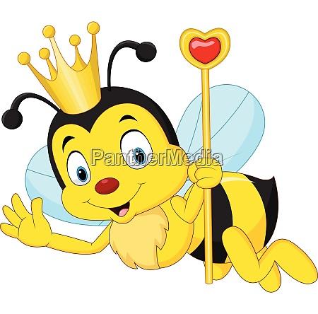 cartoon queen bee