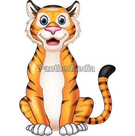 smiling tiger cartoon