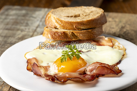 egg sunny side up on a