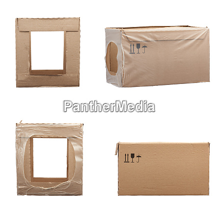 set of rectangular boxes made of
