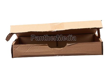 brown rectangular cardboard box for transporting