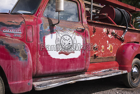 old fire truck ridgway colorado usa