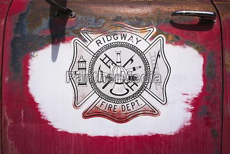 old fire truck emblem ridgway colorado