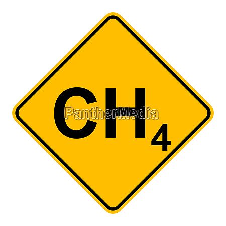 methane and road sign