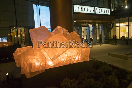usa washington state bellevue lighted sculpture