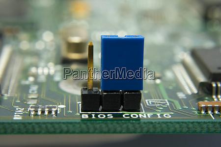 computer motherboard circuit jumper bios config