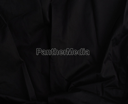 texture of black cotton fabric with