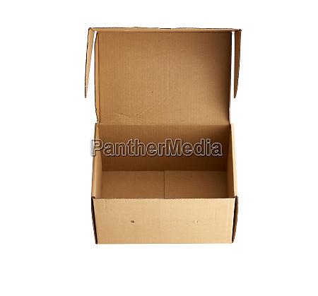 open brown rectangular cardboard box for