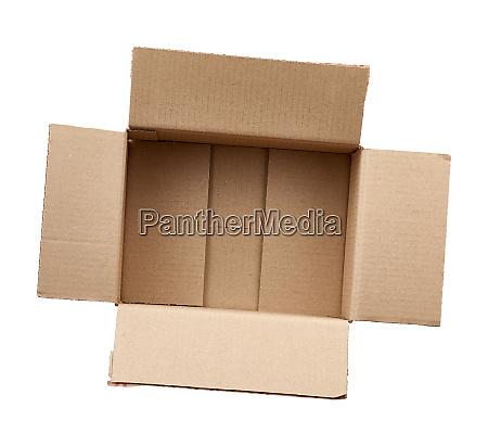 open empty brown rectangular cardboard box