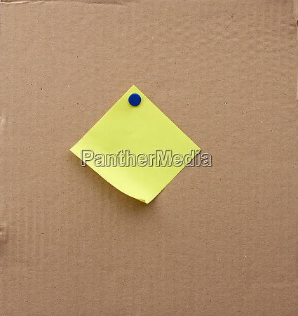 blank square sheet of paper attached