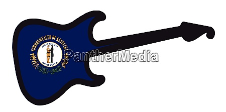 kentucky state electric flag guitar