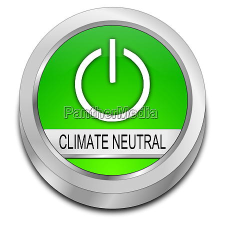 glossy green climate neutral button