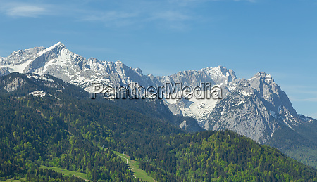 alps panorama of garmisch partenkirchen bavaria