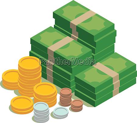earnings savings money dollar coins
