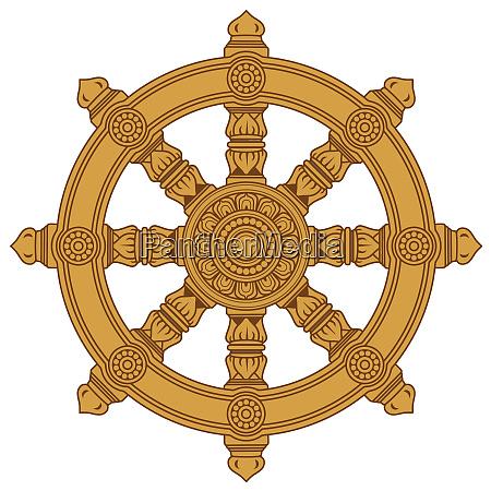 chakra buddhism wheel of dharma holy
