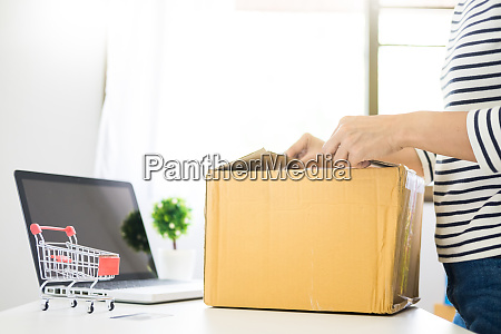 e commerce delivery concept and online