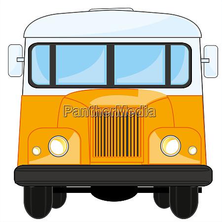 vector illustration transport retro bus type