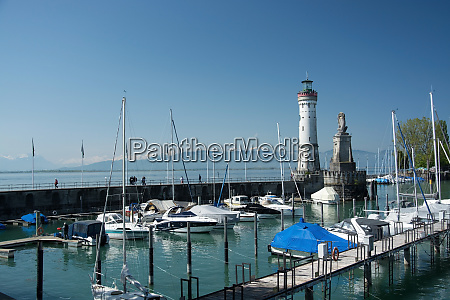 lindau harbour bavaria germany