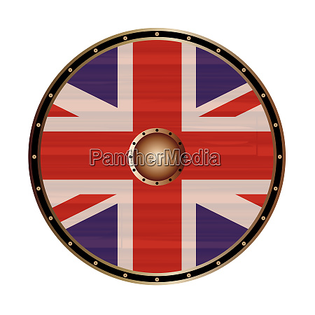 round shield with the union jack