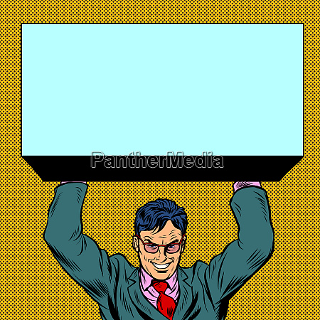 businessman atlas holds the load