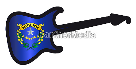 nevada state electric flag guitar