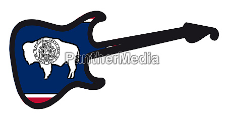 wyoming state electric flag guitar