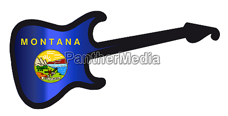 montana state electric flag guitar