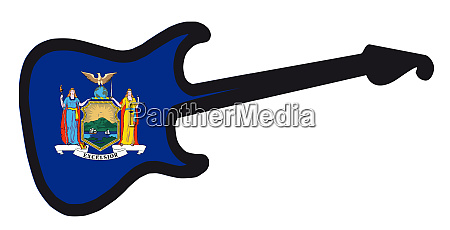 new york state electric flag guitar