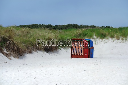 beach chairs on the helgoland duene