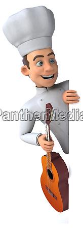 fun chef 3d illustration