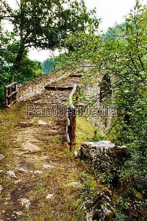 a medieval bridge in campania italy