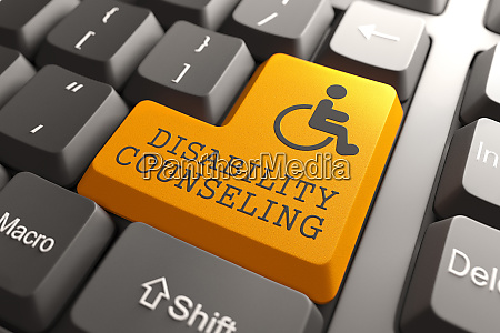 disability counseling on keyboard button