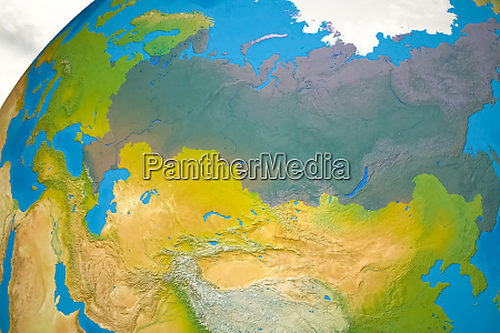 map of russia on world map