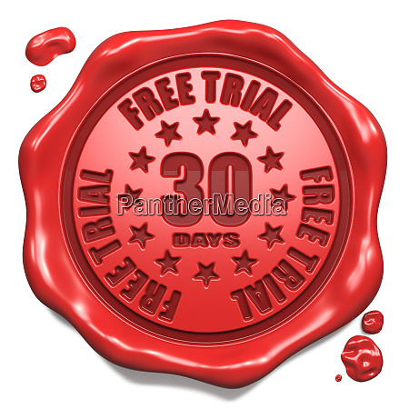 free trial 30 days stamp on
