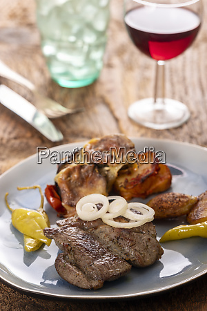 grilled lamb steak on a plate