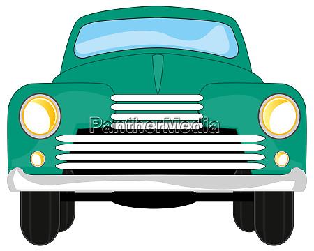 vector illustration passenger retro car type