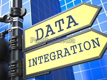 data integration roadsign information concept