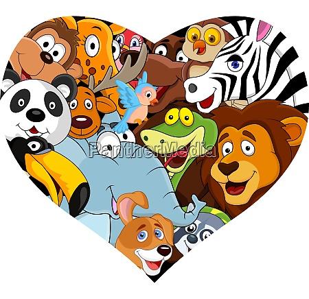 animal with heart shape