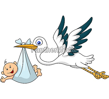 stork and baby
