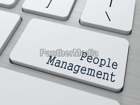 white keyboard with people management button