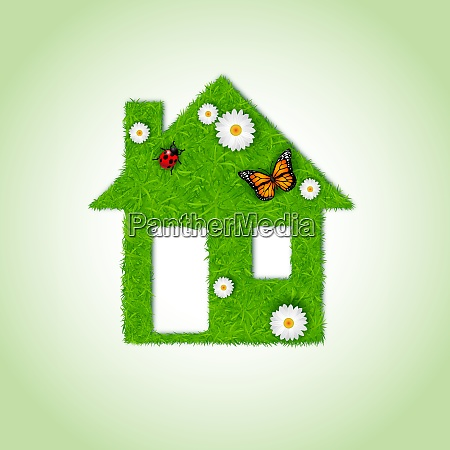 home icon from grass background