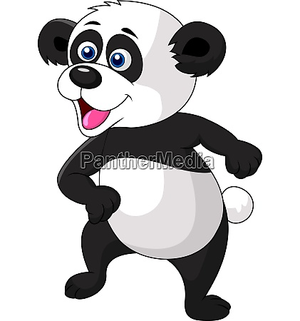 cute panda dancing