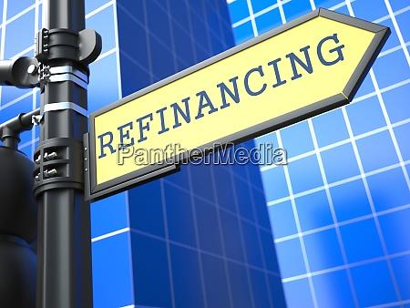 refinancing business concept