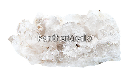 colorless rock crystals rock crystal isolated