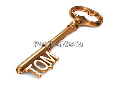 tqm golden key business concept